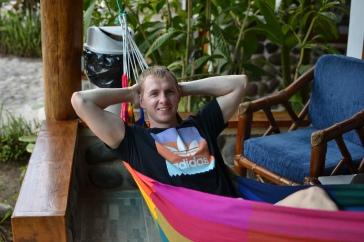 Relaxing in the hammock...